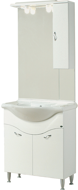 Sipafer s p a mobile per bagno art 58 0 con 2 ante specchio pensile dx e lavabo consolle - Specchio con ante per bagno ...