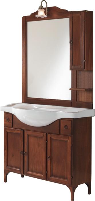 Sipafer s p a mobile per bagno art simona anticato arte povera con 3 ante liscie specchio - Specchio arte povera ...