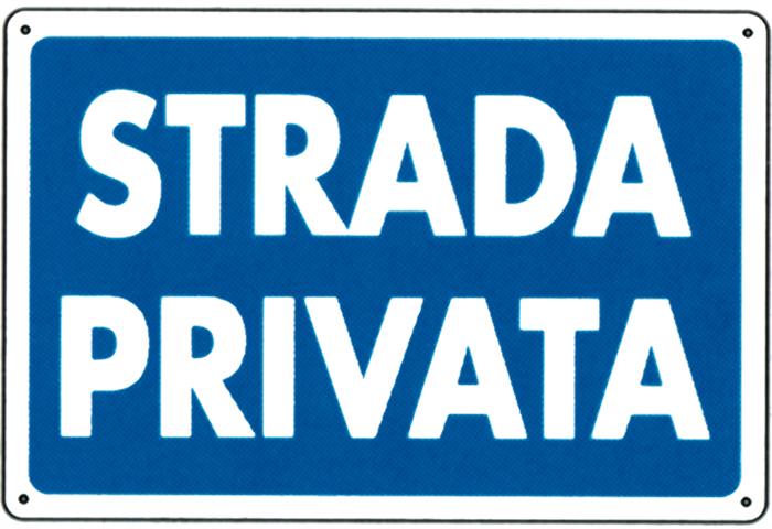 Sipafer s p a cartello strada privata cod 474361 for Strada privata