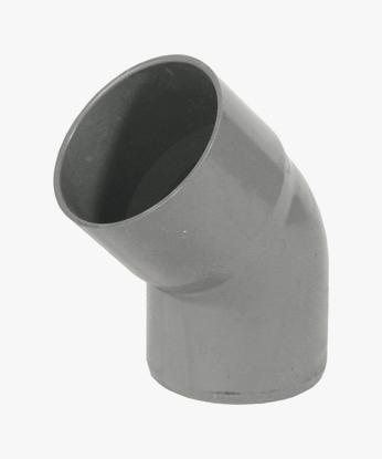 CURVA APERTA 45° IN PVC