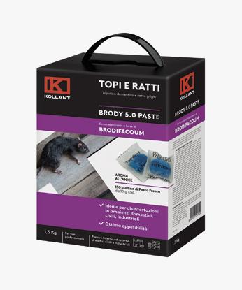 ESCA TOPICIDA E RATTICIDA BRODY 5.0 PASTE