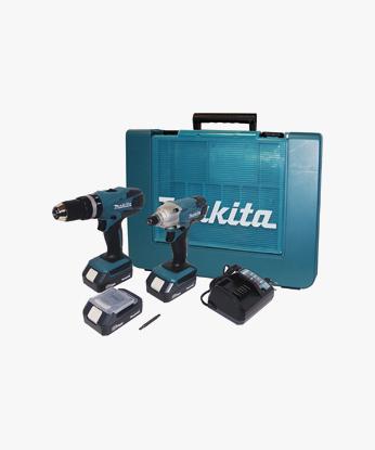KIT DK18015 TRAPANO BATTENTE-AVVITATORE HP457D + AVVITATORE AD IMPULSI TD127D