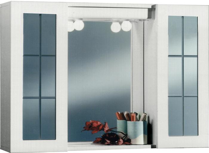 Sipafer s p a specchio a mobiletto per bagno art 354 sri con 2 ante inglesine in vetro cod - Specchio con ante per bagno ...