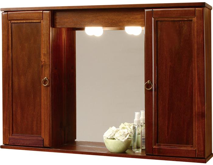 Sipafer s p a specchio a mobiletto per bagno art 772 anticato arte povera con 2 ante - Specchio con ante per bagno ...